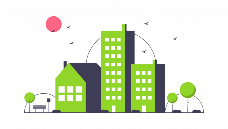 green town graphic